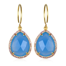 Paris Gem Teardrop - Blue Gold