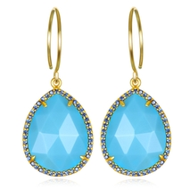 Paris Teardrop-Turquoise Gold
