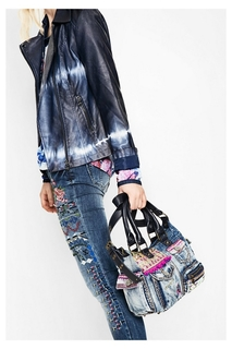 Desigual - Woman - Denim bag - <b>London</b> Mini Exotic..