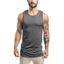 Extended Scoop Tank - Grey