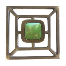 Benson Pull with Backplate / Antique Brass