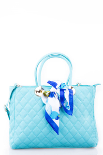 Quilted Handbag with Bow Detail