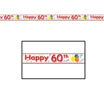 Happy 60th Birthday Party Tape | 1 ct