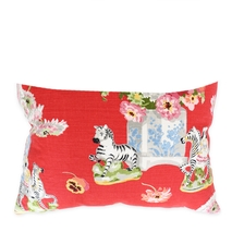 Red Zebras Lum<b>Bar</b> Pillow