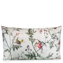 Pale Blue Hummingbirds <b>lumbar</b> Pillow