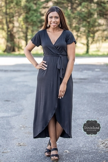 All I Need Black Wrap Dress