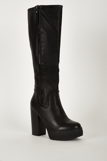 GRAZIA FAUX LEATHER PLATFORM BOOTS