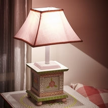 Crackled Rose - Table Lamp