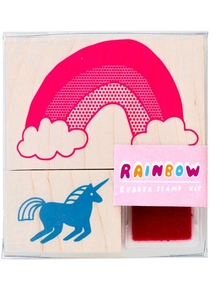Unicorn + Rainbow Small Stamp Kit