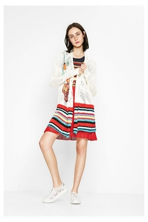 Desigual - Woman - Multicolored knitted cardigan - Margarita..