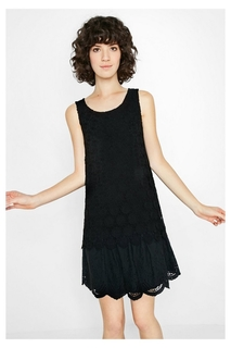 Desigual - Woman - Short black lace dress Barcelona -..