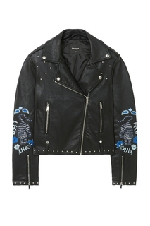 Desigual - Woman - Black jacket with studs - Naomie - Naomie..
