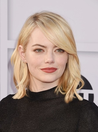 Emma Stone and our new double pear loop earring