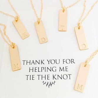 Loving these bridal party necklaces!