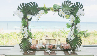 Tropical Beach Tablescape