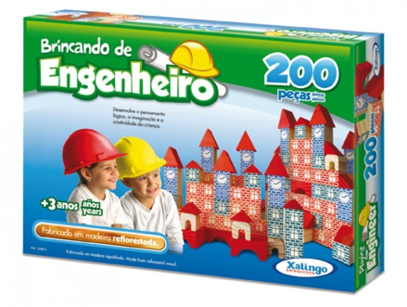BRINCANDO DE ENGENHEIRO 200 PEÇAS Ref.: 5306.5