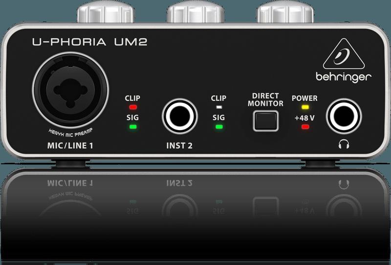 Interface de Áudio Behringer U-Phoria UM2 2x2 Xenyx