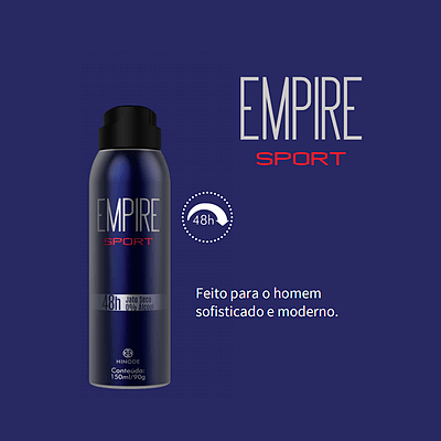 DESODORANTE AEROSOL ANTITRANSPIRANTE EMPIRE SPORT 150ml
