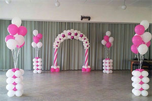 Pink Balloon Theme Decoration -