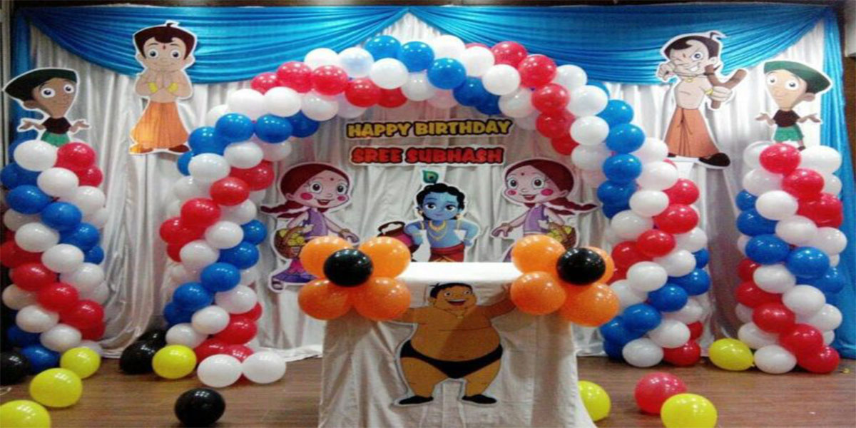 Chota Bheem Krishna Theme Decoration Bangalore Showmyhall