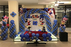 Silver Blue Disney Theme Decoration -