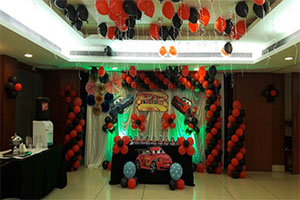Paper Fan McQueen Theme Decoration -