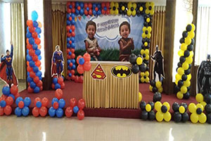 Twin Super Heroes Theme Decoration -
