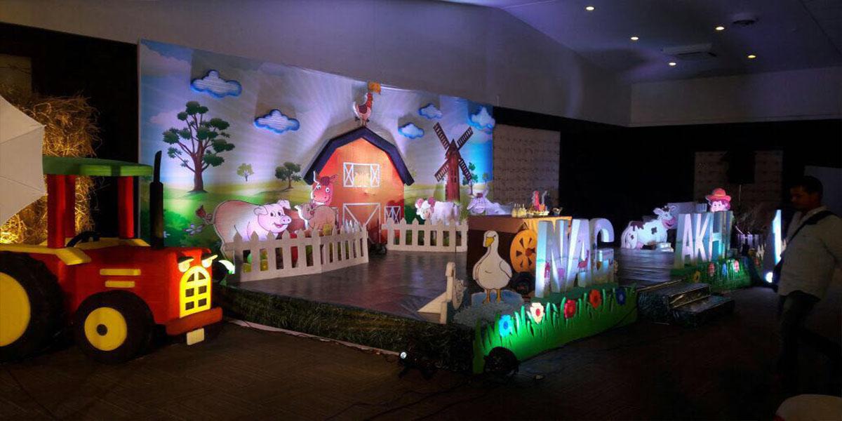 2D Farm House Theme Decoration -