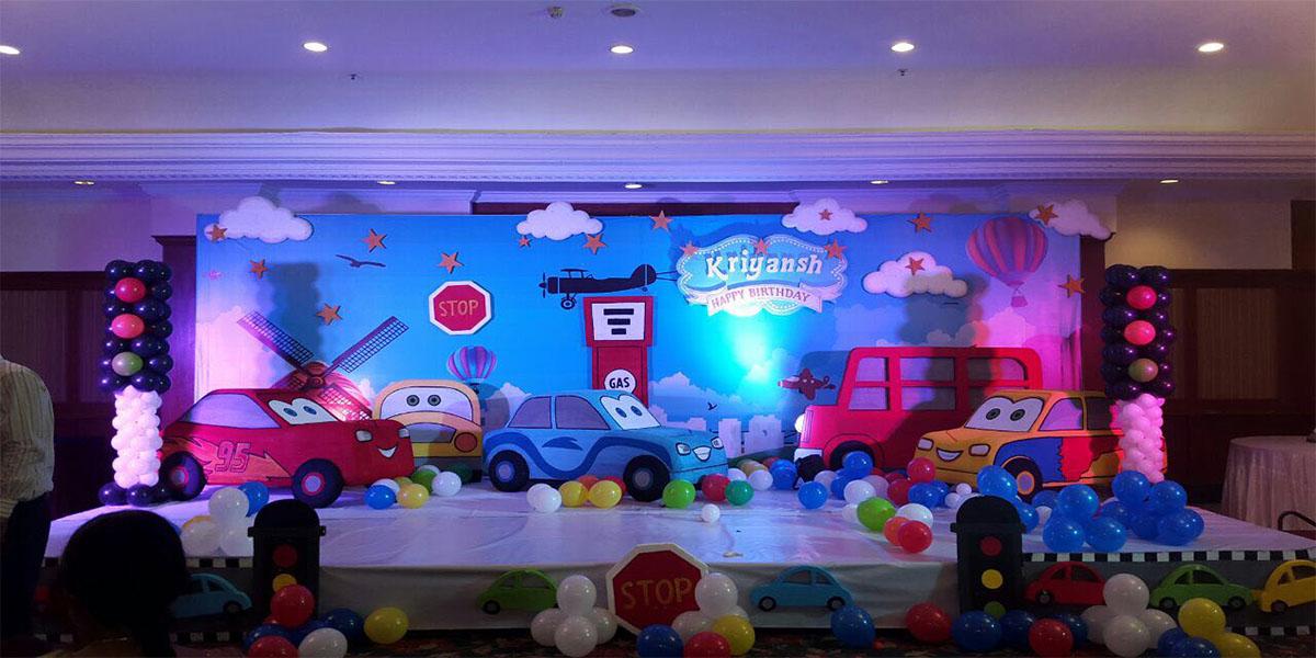 3D Car Theme Decoration -