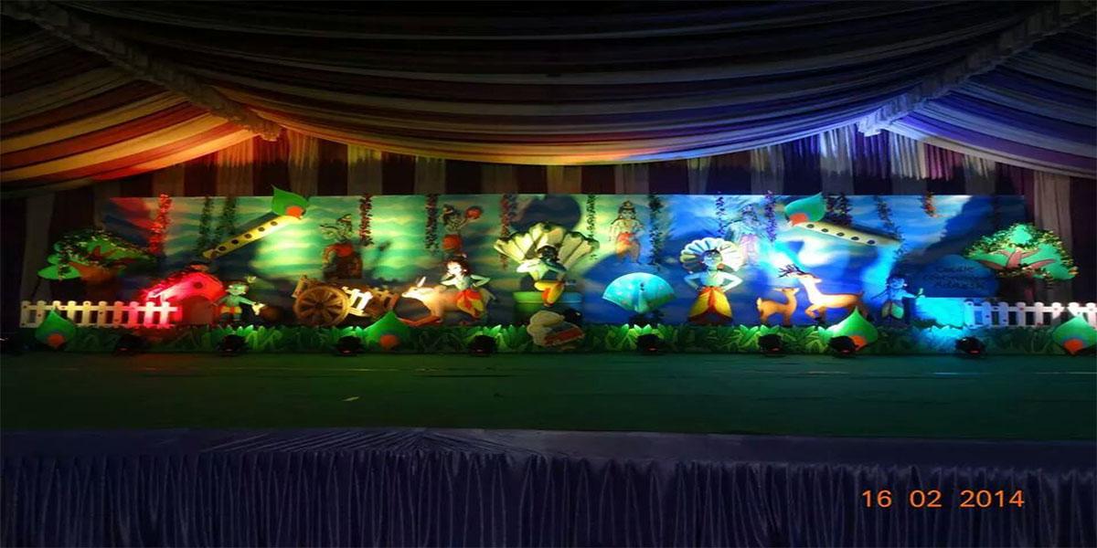3D Krishna Theme Decoration -