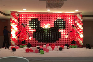 Balloon Wall Minnie Theme Decoration -