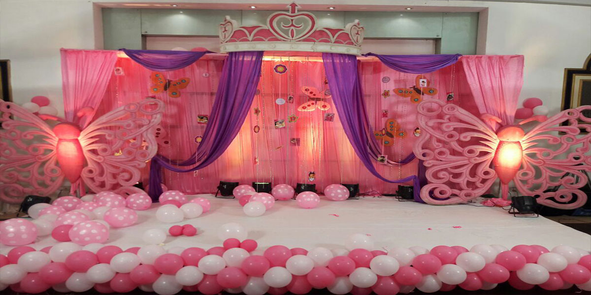Butterfly Crown Theme Decoration -