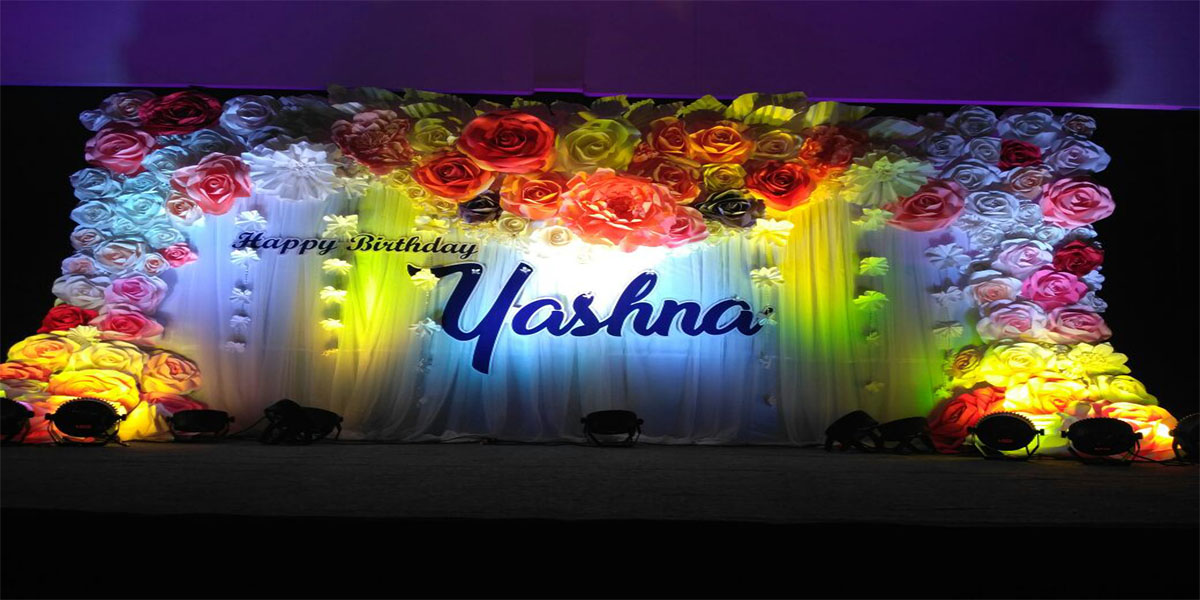 Paper Flower Theme Decoration -
