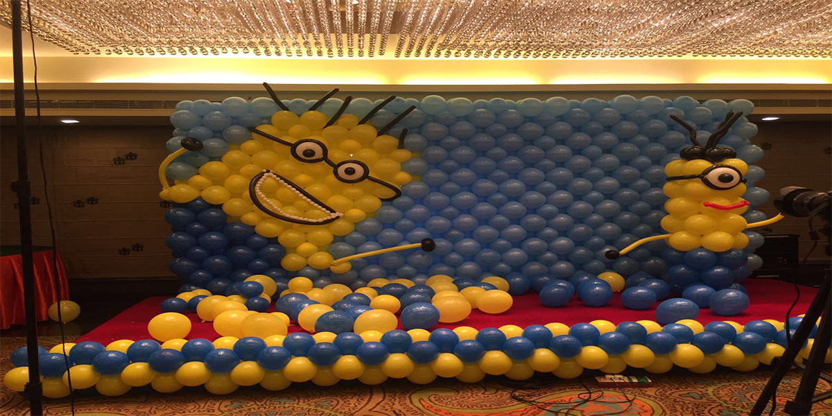 Minion Balloon Wall Theme Decoration -