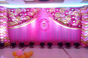 Paper Fan Baby Girl Birthday Theme Decoration -