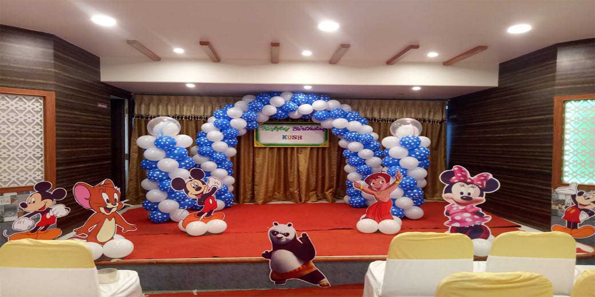 Polka Balloon Cutouts Theme Decoration -