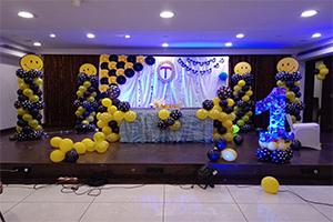 Paper Fan Smiley Theme Decoration -
