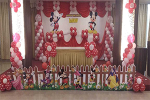 Polka Drape Mickey Theme Decoration -