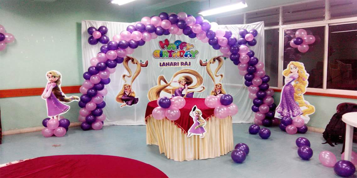 Rupunzel Backdrop Theme Decoration -