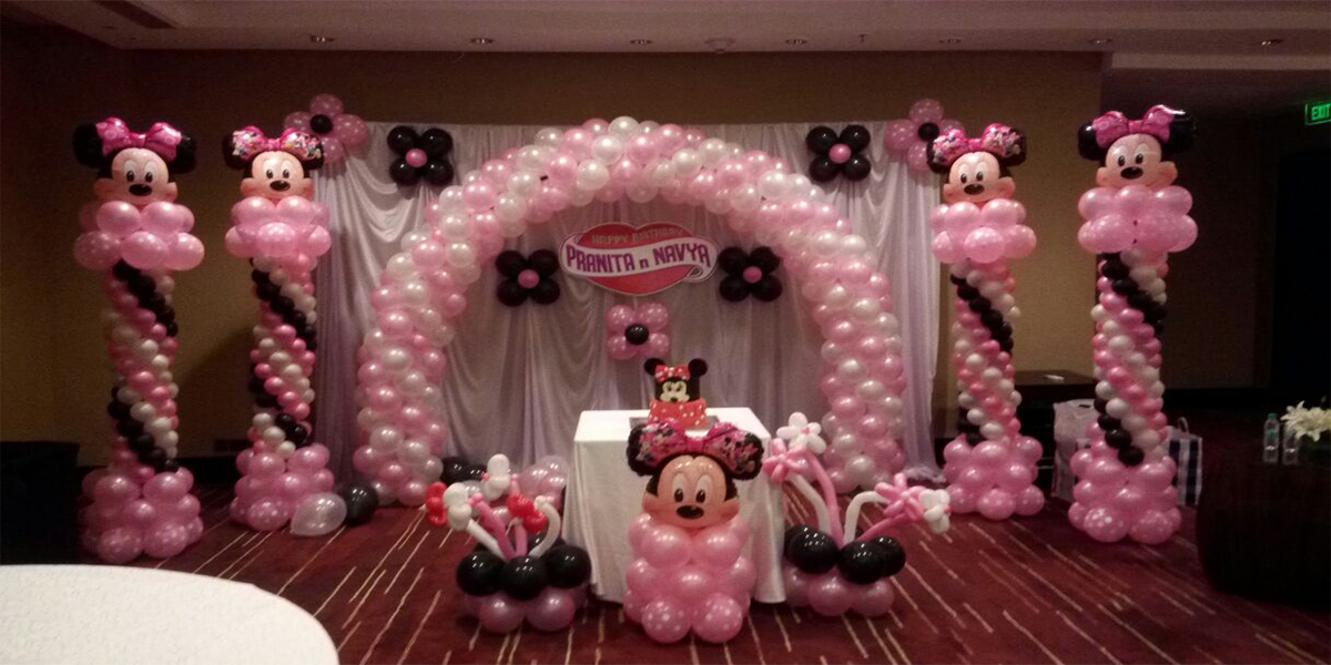 Customized Designer Minnie Theme Decoration -