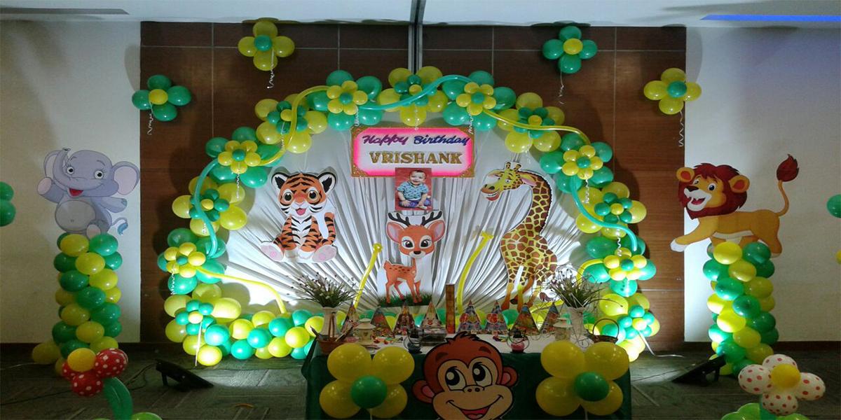 Designer Jungle Theme Birthday Decoration -