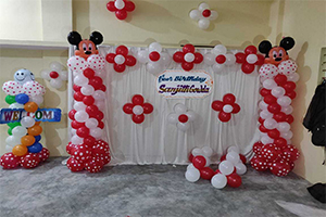 Home Mickey Polka Theme Decoration -