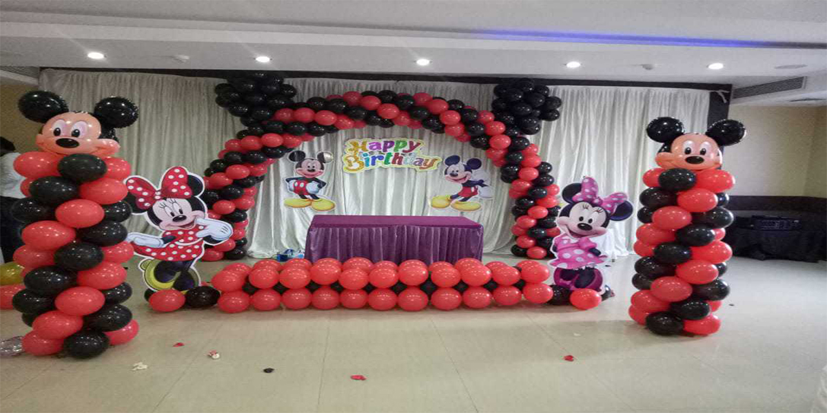 Mickey Arch Backdrop Theme Decoration -