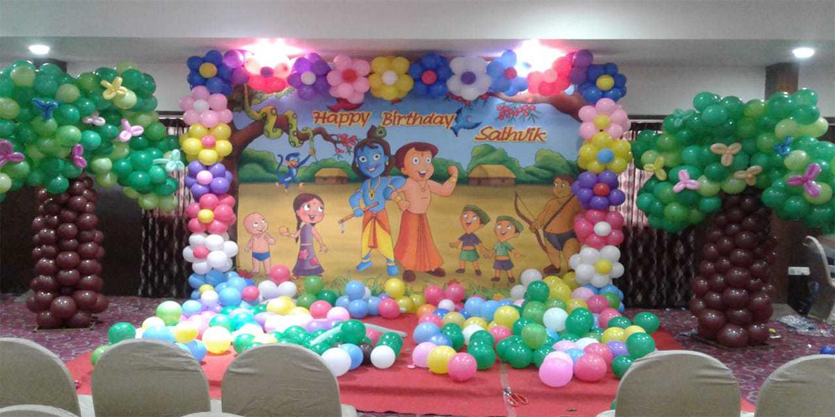 Chotta Bheem Krishna Printed Theme Decoration -