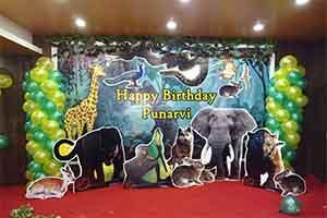 2D Jungle Birthday Theme Decoration -