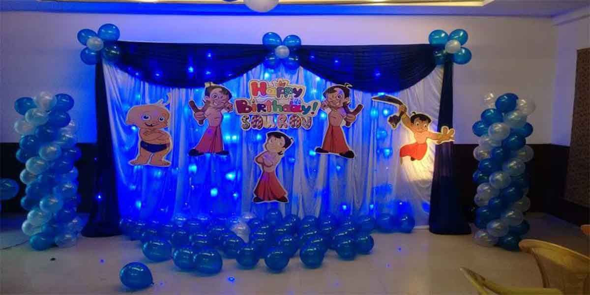 Backdrop Chota Bheem Theme Decoration Bangalore Showmyhall