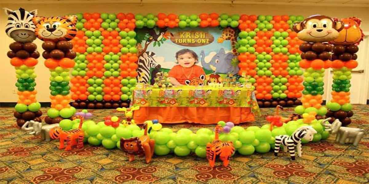 Balloon Wall Jungle Theme Decoration -