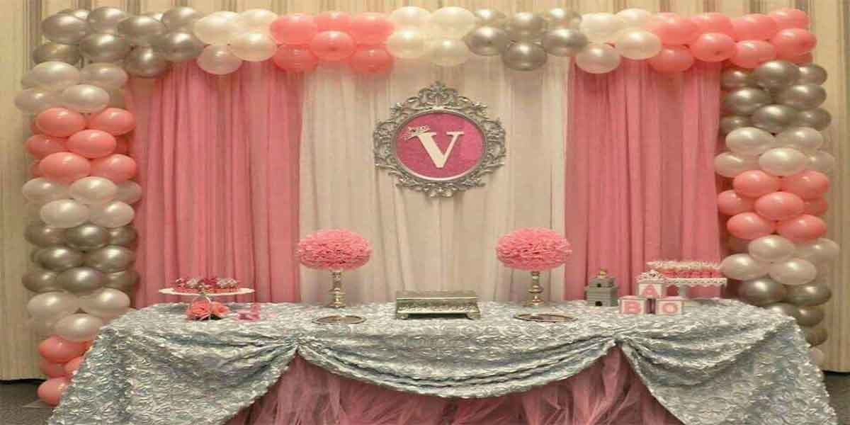 Basic Baby Girl Screen Theme Decoration -