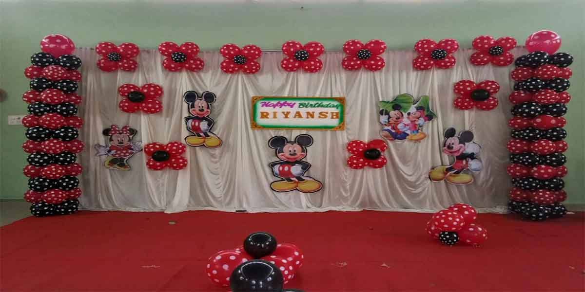 Basic Polka Mickey Theme Decoration -