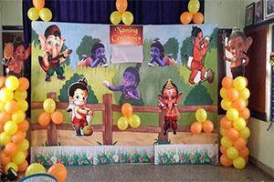Bal Ganesh Krishna Naming Ceremony Theme Decoration -